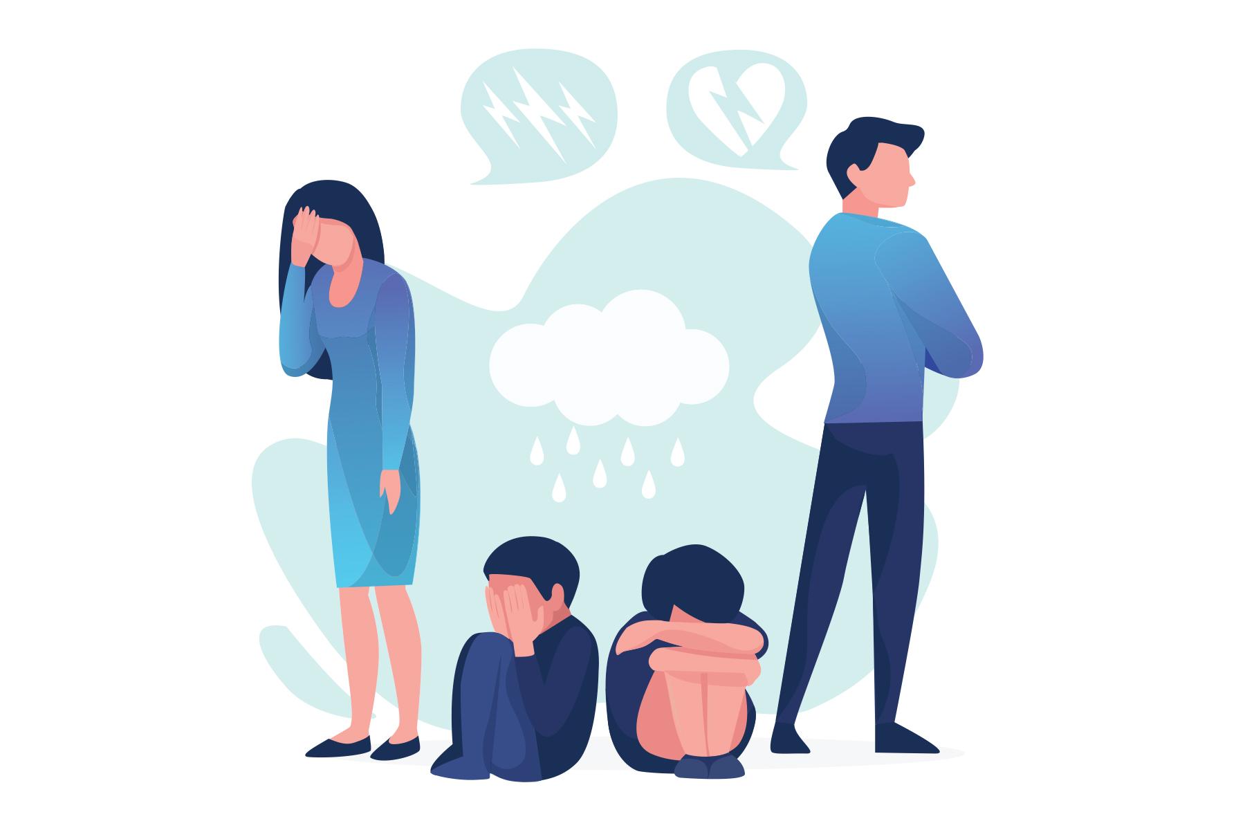 ارتباط طلاق با فرزندان